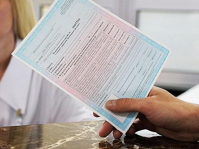Мед карта для комиссии на права